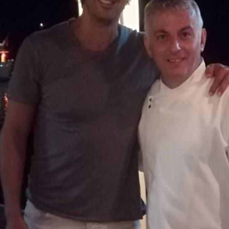 Ο Ιμπραΐμ Κουτλουάι στο Εστιατόριο Σπυραντρέας